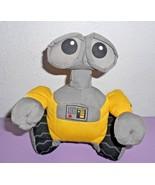 """Disney Store Wall-E Robot Plush Stuffed Animal Small 7"""" Grey Yellow Soft... - $22.75"""