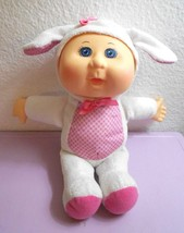 CPK Cabbage Patch Kids Cutie Bunny Baby Doll Pink White 2016 Gingham - $15.81