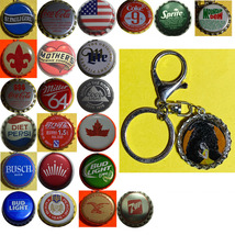 Beauty and the beast Coke Sprite Diet pepsi & more Soda beer cap Keychain