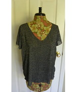 Project Social T Urban Outfitters V-Neck Knit Top Shirt Gray UO XS NWT - $19.95