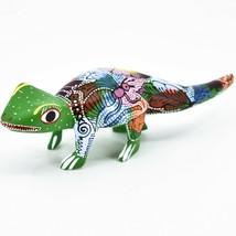 Handmade Alebrijes Oaxacan Wood Carving Painted Folk Art Alligator Figurine image 2