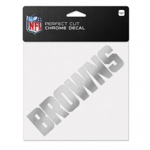 Cleveland Browns Decal 6x6 Perfect Cut Chrome**Free Shipping** - $17.70