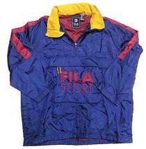 90s FILA SPORT 1/4 Zip Outerwear Hooded Pullover Jacket Adult Men's Size... - $197.95