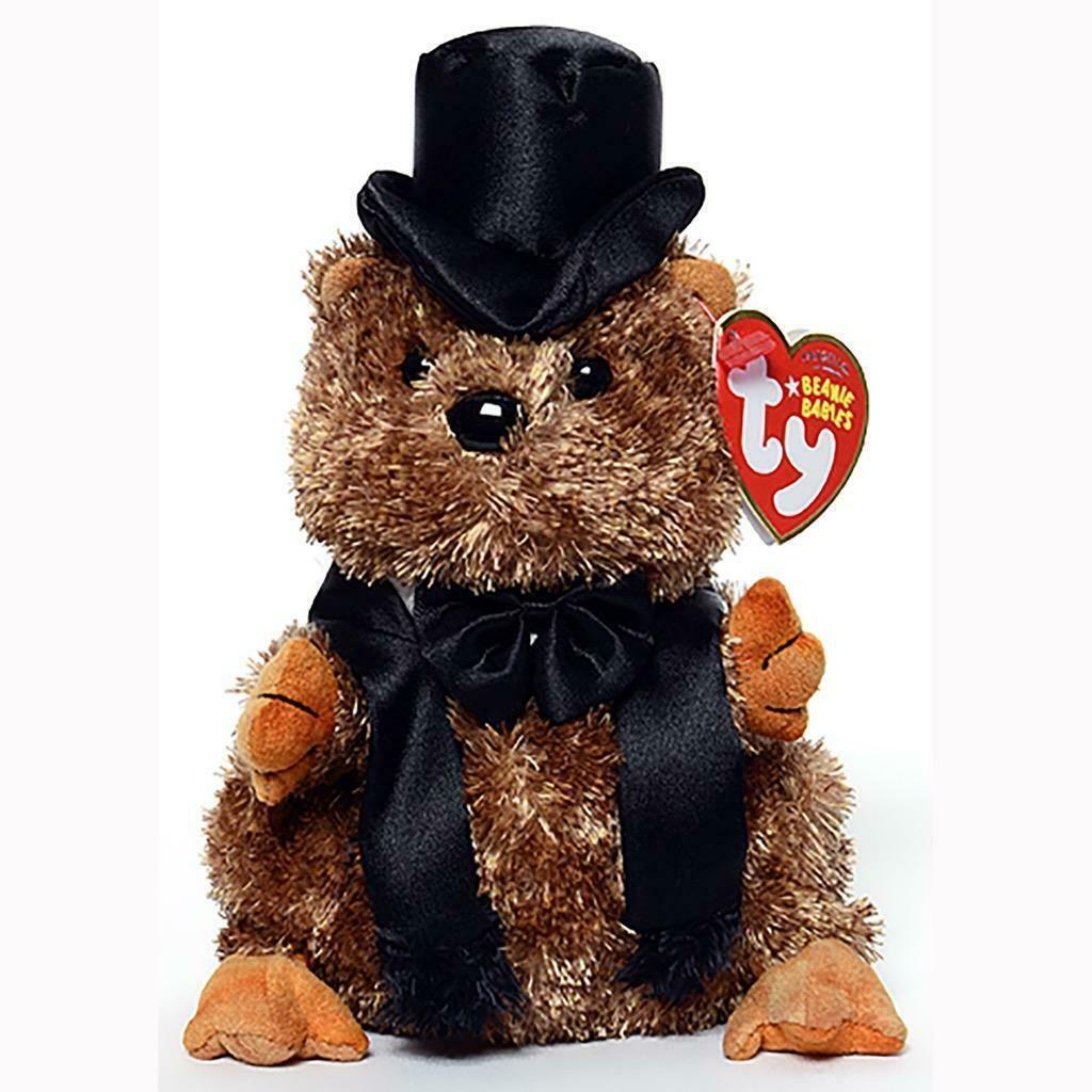 Punxsutawey Phil 2007 Groundhog Retired Ty Beanie Baby MWMT Collectible