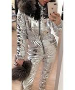 Ski Suit 2 in 1 Mens Womens Winter Snow Glanz Nylon Anzug Shine Overall ... - $349.00
