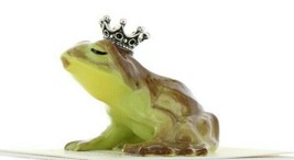 Hagen Renaker Miniature Frog Prince Kissing Ceramic Figurine image 1