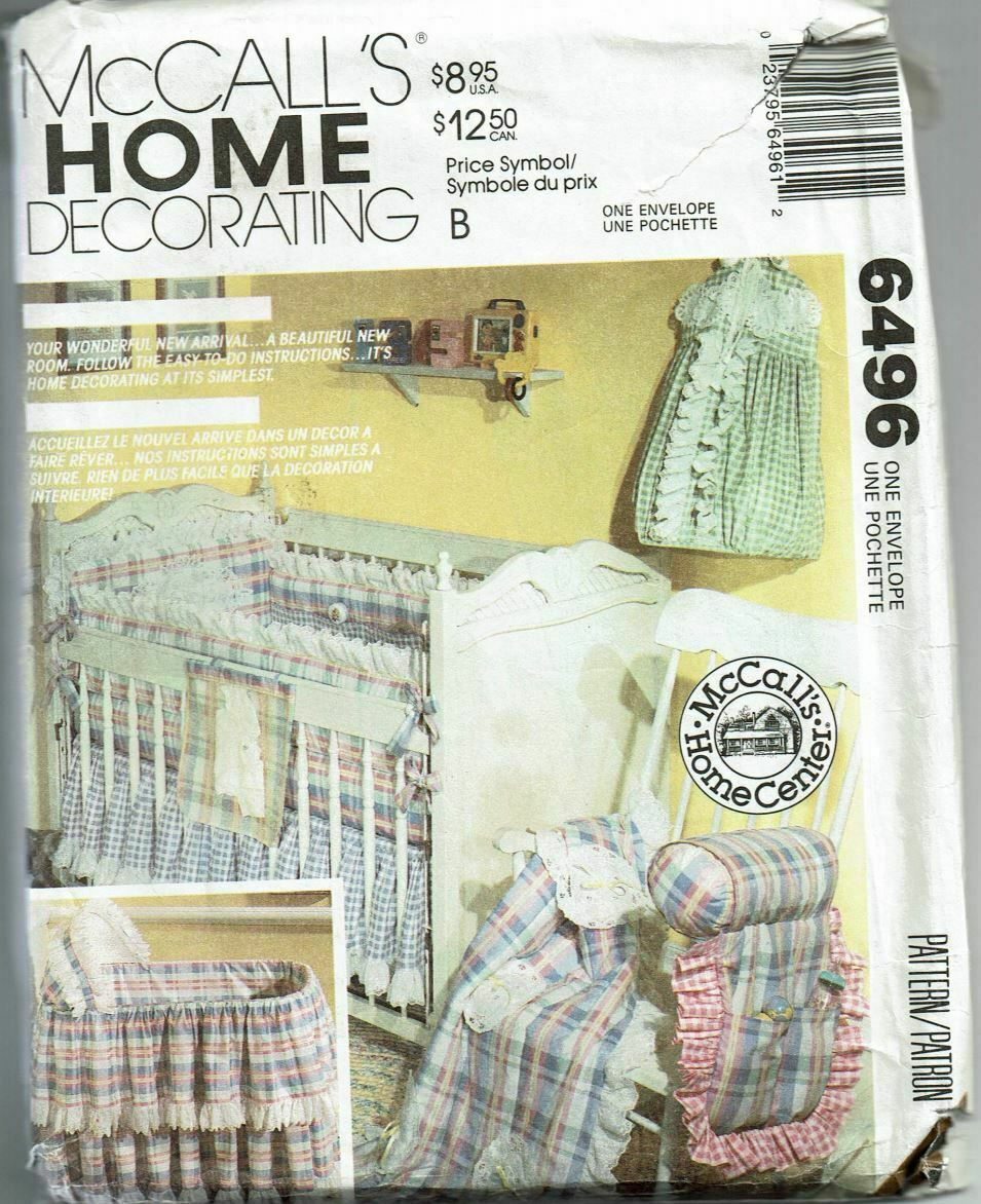 Primary image for Sewing Pattern McCalls 6496 Nursery Furnishings