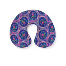 Stained Glass Rose Disney Inspired Travel Neck Pillow - $28.60 CAD