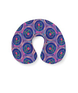 Stained Glass Rose Disney Inspired Travel Neck Pillow - $28.78 CAD