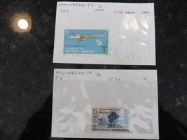 G56 Stamps New Hebrides French 1953 Outrigger Sailing canoes 20c Concord... - $17.60