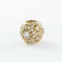 Pandora 750838CZ Charm Bead Inner Radiance Zirconia 14k Yellow Gold New ... - $300.70