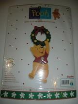 1999 Bucilla Winnie The Pooh X-Mas Door Knob Cover Hanger Kit-NEW! - $11.99