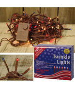 Americana Twinkle Lights Holiday String 4th of July Christmas Tree Wreaths - $29.70