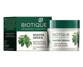 Biotique Bio Winter Green Spot Correcting Anti Acne Cream 15 g Pack of 2 - $16.55