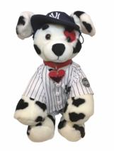 Build a Bear Dalmatian Puppy Dog Plush Yankees Baseball Outfit Red Heart... - $59.00