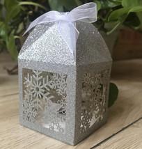 100pcs Glitter Silver Snowflake Laser Cut Wedding Gift Boxes,Favor Boxes - $84.00