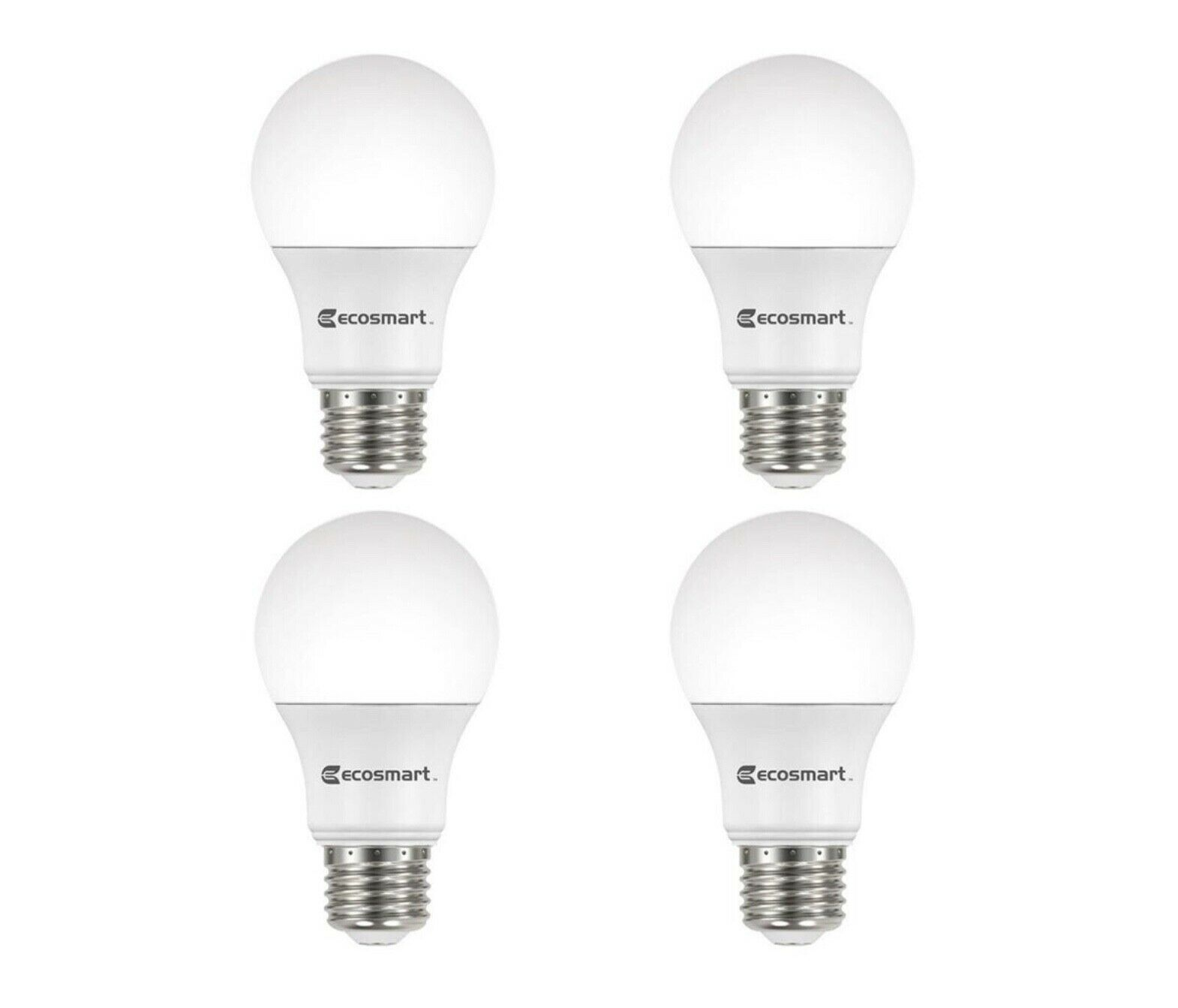 Primary image for EcoSmart 60-Watt Equivalent A19 Dimmable LED Light Bulb Daylight (4-Pack)