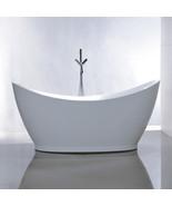 Vanity Art White Acrylic 67.5-Inch Freestanding Soaking Bathtub - VA6513 - $806.55