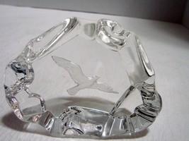 Crystal Iceberg Eagle in Flight Intaglio Engraved 3 x 4x 1.5 D In - $9.99