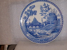 """SPODE BLUE ROOM COLLECTION """"GIRL AT WELL"""" DINNER PLATE - $20.00"""