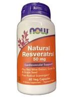 Now Foods Natural Resveratrol, 50 mg, 60 Veg Capsules Cardiovascular Supplwm - $12.34