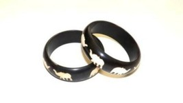 Brown Resin Elephant Bangles - $14.85