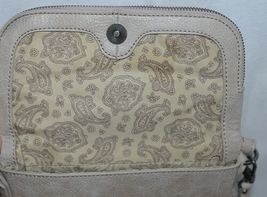 Simply Noelle Brand Beige Taupe Color Floral Leaf Pattern Womens Purse image 6