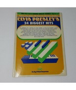 Vintage Elvis Presley 24 Biggest Hits Song Book Music Sheet Music Piano ... - $44.51