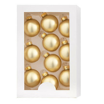 Darice Christmas Boxed Ornaments: Matte Gold, 1.77 inches, 10 pieces w - $11.99