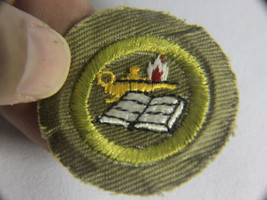 Vintage 1950s Boy Scouts Merit Badge - Round Reading Patch - $8.95
