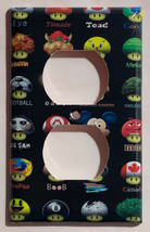 Mushroom icon mario DC Pokemon + Light Switch Outlet wall Cover Plate Home Decor image 2