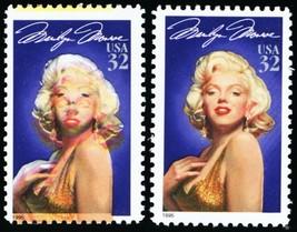 2967, Huge Color Shift Error Marilyn Monroe 32¢ STAMP Mint NH - Stuart Katz - $400.00