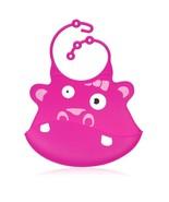 Pink Hippo Silicone Baby Bib - Ulubulu - CPSIA Compliant - Fun Toddler Bib - $17.99