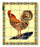 Dollhouse Rooster Picture Mosaic Tile Sheet 34860 World Model Miniatures - $2.35