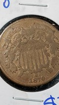 1870 Two Cent Piece Better Date Coin image 2