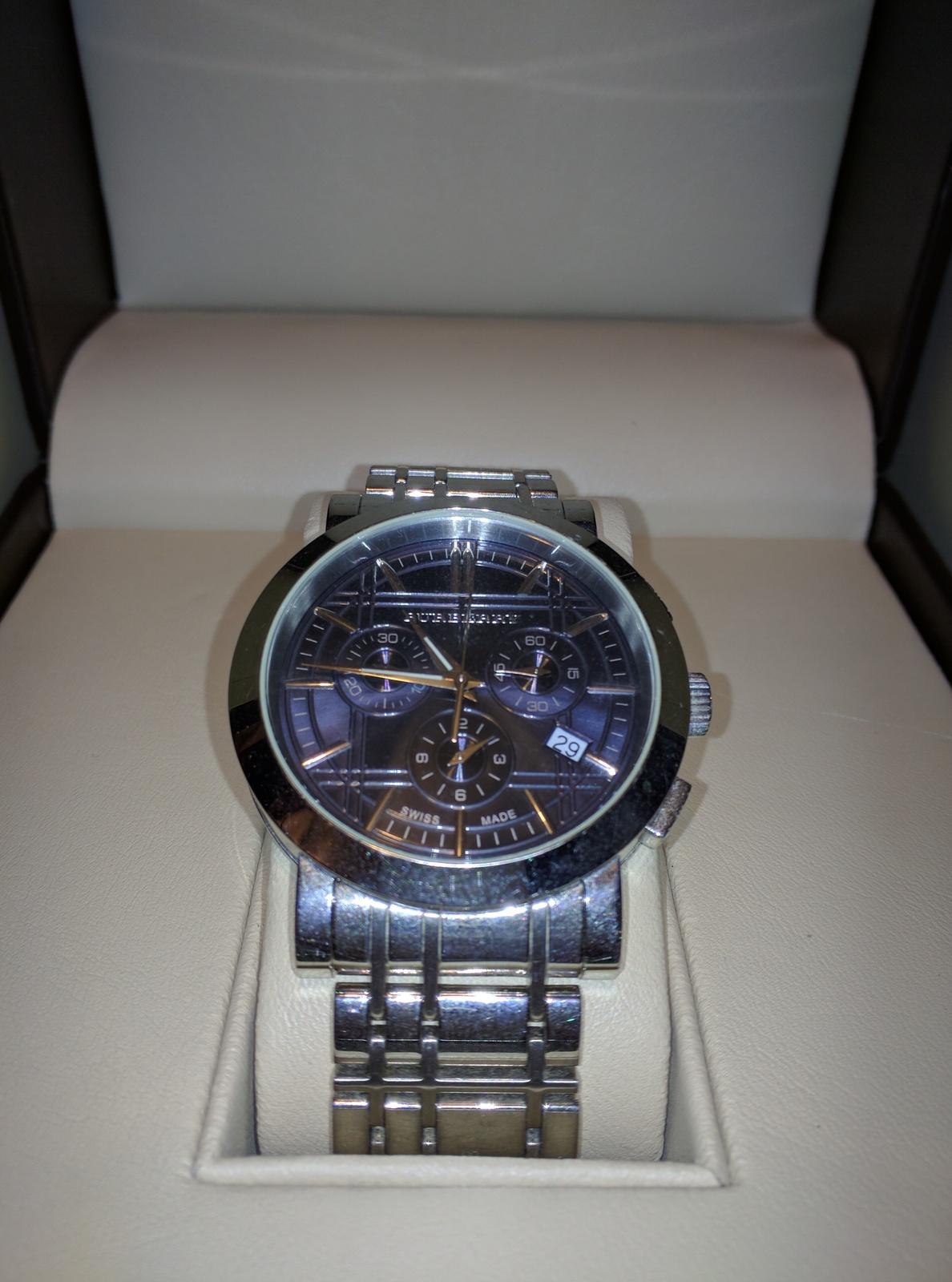 Burberry BU1360 Men's Watch (Steel Blue Face) - $199.99
