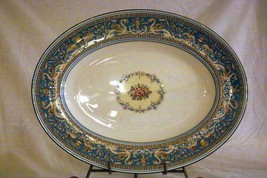 "Wedgwood 1931 Florentine Turquoise Oval Platter 13 5/8"" #2417 Old Backstamp - $62.36"