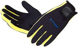 PANDA SUPERSTORE Yellow Professional Diving Gloves Dive Necessary Protective Equ