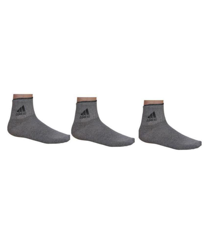 Adidas Gray Formal Ankle Length Socks