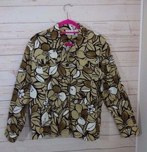 Alfred Dunner Women's Brown Floral Jacket, Size 16 - A1326 - $26.99