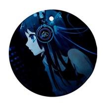 Christmas Round Ornament - Anime Hatsune Miku Vocaloid Round Procelain O... - $3.95