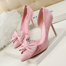 Bowknot Shoes Shoes Women Heels Dress Wedding Lady GWS015 Party Heels High Pumps qqarp