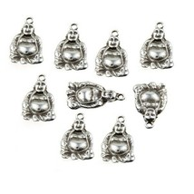 Charms Buddha Antique Silver Pewter Pendant DIY Jewelry Craft Accessory ... - $12.86