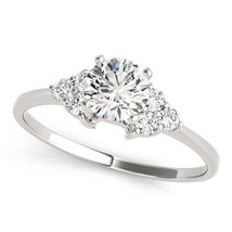 0.68 tcw. Petite Trio Cluster Engagement Ring - MDC Diamonds New York - $2,192.28