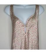 Vintage Morgan Taylor Intimates Slip Nightgown L Pink Floral Knee Length  - $39.55