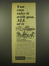 1966 French Line Ad - You can take it with you. All of it - $14.99
