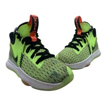 Nike Lebron Witness 5 Grinch Youth Size 4 Lime Green Basketball Shoes CT4629-002 - $34.61