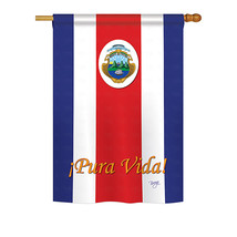 "Costa Rica - 28"" x 40"" Impressions House Flag - H108158 - $36.87"