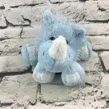 Ganz Webkinz Rhino Rhinoceros Plush Blue Shaggy Floppy Stuffed Animal Toy - $9.89