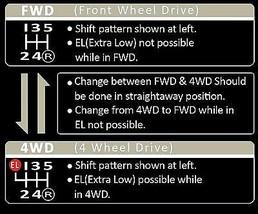 1983-1988 Toyota Tercel 4wd Wagon Shift pattern Instructions Console Sticker - $29.69